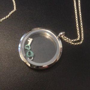 Origami Owl Heart Lock & Key Locket Necklace